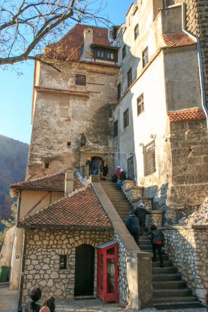 Romania, Transylvania - October 28, 2015: Bran Castle, residence Queen Marie