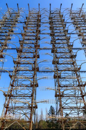Photo for Eastern Europe, Ukraine, Pripyat, Chernobyl. Duga-1 radar array. - Royalty Free Image