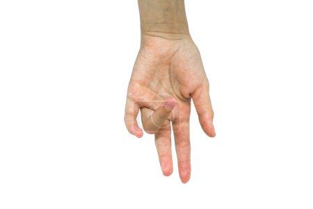 Photo pour Main de femme sur fond blanc - image libre de droit