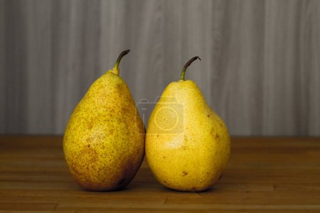 Photo for Two pears on background, close up - Royalty Free Image