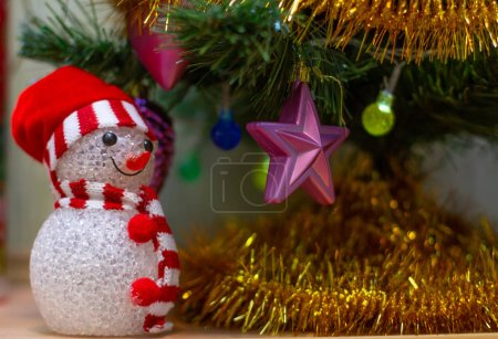 Photo for Christmas decorations on the tree, close up - Royalty Free Image