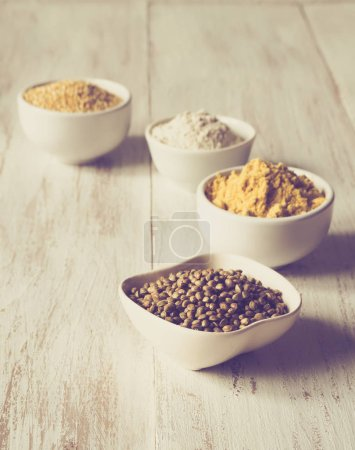 Natural food supplements, Superfoods. The concept of healthy eating.