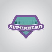Super hero power full typography t-shirt graphics Vector illustration