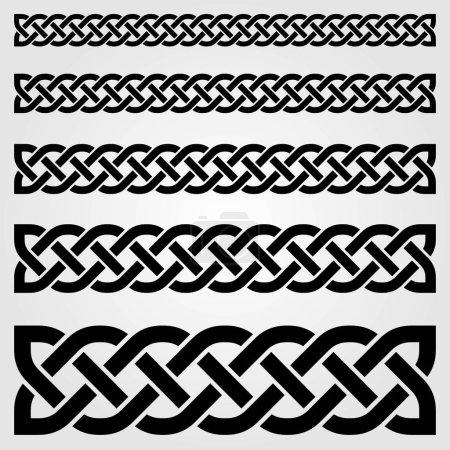 Celtic style border isolated on white background. ...