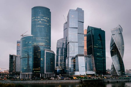 urban view of Moscow city
