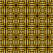 Abstract seamless geometric background Pattern of Golden square