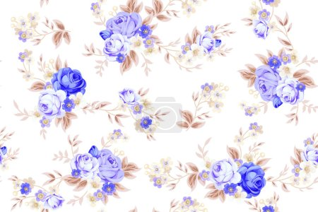Photo for Seamless cute vintage pattern in shabby chic style - Royalty Free Image