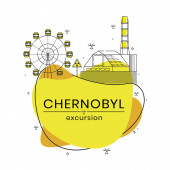 Excursions to Chernobyl exclusion zone Flat vector illustration