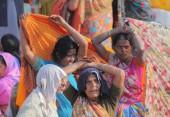 people at Kumbh Mela festival, the world's largest religious gathering, in Allahabad, Uttar Pradesh, India.