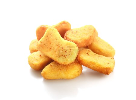 Photo for Chicken nuggets portion isolated on white background - Royalty Free Image
