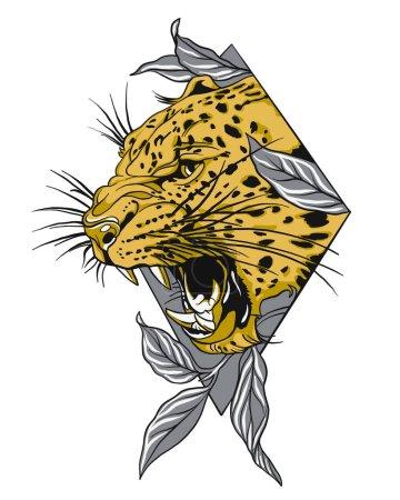Leopard face tattoo Jaguar face