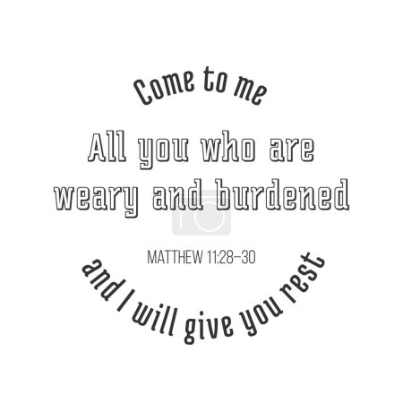 biblical phrase from Matthew gospel