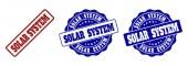 SOLAR SYSTEM Grunge Stamp Seals