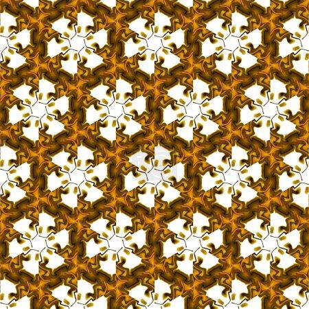 Photo pour Peinture liquide riche art fractal doré. Oeuvre magique de luxe. Graphisme motif artistique. Fond surréaliste en or abstrait. Élégante impression . - image libre de droit