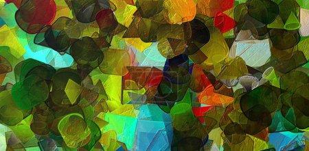 Photo pour Peinture abstraite. Art à vendre. Peinture à l'huile. Art impressionniste moderne. Arts muraux contemporains. Impression papier ou toile. Modèle pour créer une affiche de design, production à la main. Texture de fond . - image libre de droit