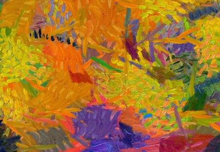 Photo pour Vincent Van Gogh peinture à l'huile de style. Art mural de style impressionniste. Tirage toile. Art surréaliste moderne, fond dessiné à la main. Bon pour les photos imprimées, cartes postales, affiches ou papiers peints et textiles - image libre de droit