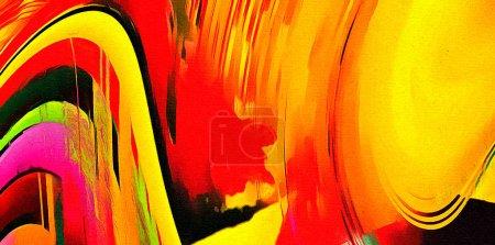 Photo pour Peinture à l'huile fond abstrait dans le style impressionnisme de mode. Modèle dessiné à la main pour le travail de conception. Modèle pour les produits d'impression de décor. Art contemporain moderne. Des éclats de peinture. Coups de pinceau doux . - image libre de droit