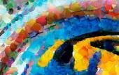 """Постер, картина, фотообои """"Масляной живописи импрессионистов современные абстракция в наличии для продажи. Творческие идеи для стены искусства печати интерьер. Рука нарисованные фон шаблон для обложки, листовки, карты и веб-баннеры. Теплый текстуры"""""""
