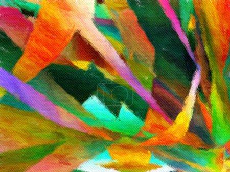 Photo pour Schéma conceptuel abstrait de l'art pour les œuvres de design créatif. Fond peinture impressionnisme moderne naïf. Décor intérieur imprimable en grande taille sur toile ou poster. Flyer publicitaire ou toile de fond de carte . - image libre de droit