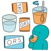 vector set of oral rehydration salt
