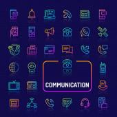 Communications Gradient Line Icon Set (EPS 10)