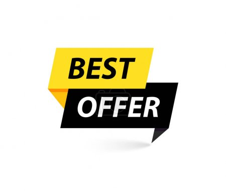Photo for Sale tag. Special offer, big sale, discount, best price, mega sale banner. Shop or online shopping. Sticker, badge coupon store Vector Illustration - Royalty Free Image