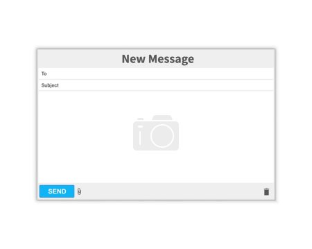 Email message Blank window of E-mail, template. E-...
