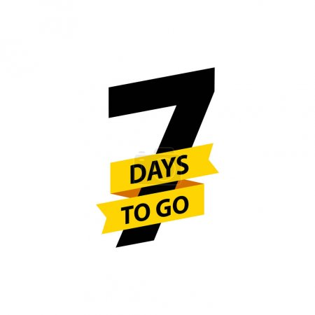 Number 7 of days to go. Collection badges sale, la...