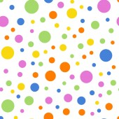 Colorful polka dots seamless pattern on white 2 background Pleasing classic colorful polka dots
