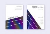 Geometric cover design template set Rainbow abstr