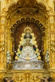 Rocio virgin in Huelva, famous procession in Spain