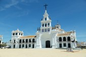 Famous Rocio church in Huelva, Andalucia, Spain
