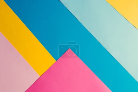 Photo for Colorful bright geometric background, Minimal fashion summer concept - Royalty Free Image