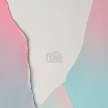 Creative layout made of gradient pastel pink and blue paper background