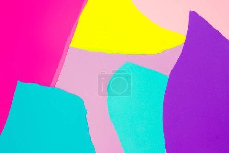 Foto de Diseño creativo con papeles vivos colores. Fondo de arte abstracto de colores. Concepto mínimo. Endecha plana. - Imagen libre de derechos