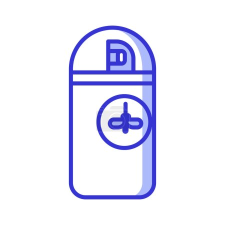Mosquito Repellent Aerosol Bottle Icon