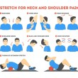 Neck and shoulder exercise. Stretch to relieve nec...