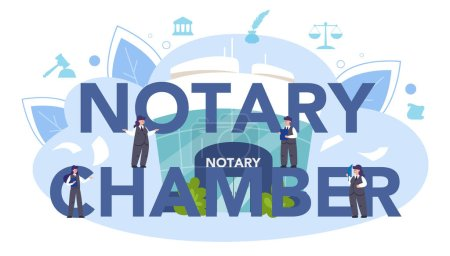 Encabezado tipográfico de la Sala Notarial. Firma de abogado profesional