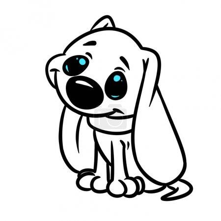 Photo pour Petite page de coloriage d'image d'image d'illustration d'image d'animal de petit animal - image libre de droit
