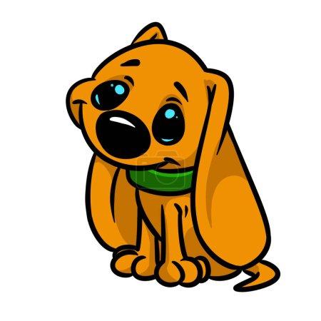 Photo pour Image d'isolement d'illustration d'isolement de dessin animé de caractère d'animal de petit crabot - image libre de droit