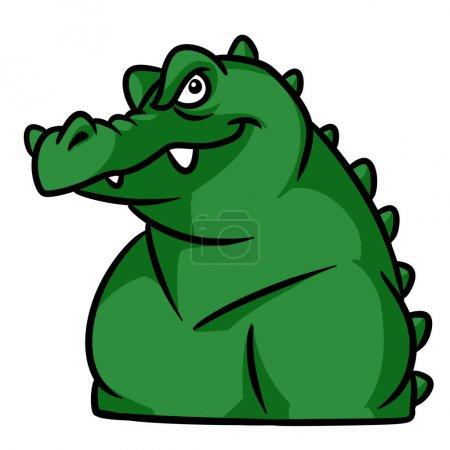 Photo pour Image d'isolement d'illustration d'isolement brutale forte de caractère d'animal de crocodile - image libre de droit