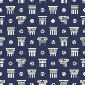 Greek and roman ancient columns seamless pattern