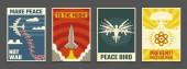 Soviet anti war peaceful propaganda vector vintage posters