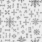 Futhark norse viking runes and talismans. Nordic p...