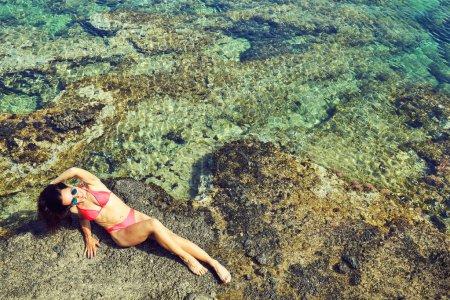 Photo for Freedom and carefree enjoyment girl enjoying life. - Royalty Free Image