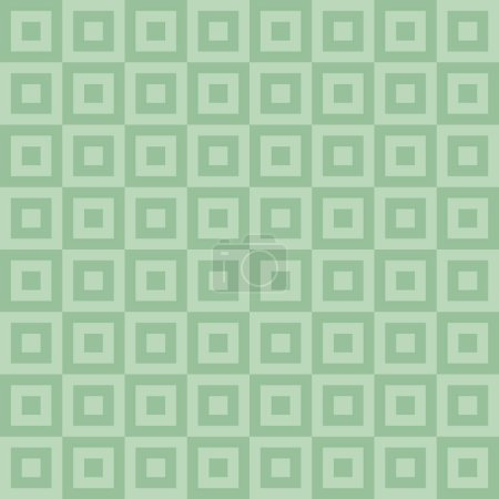 Illustration for Abstract warm pastel pattern with green squares within squares. Vector Illustration. - Royalty Free Image