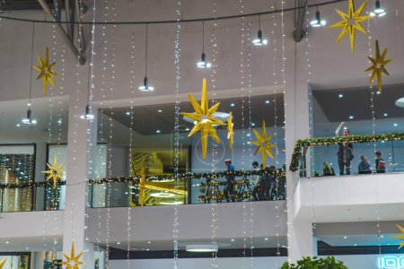 Photo for City mall with christmas decoration winter holidays mood concept - Royalty Free Image