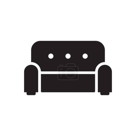 Photo pour STUDIO COUCH ICON CONCEPT sur fond blanc - image libre de droit