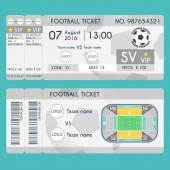 Football Ticket Modern Design Soccer stadium scheme with zone Vector illustration