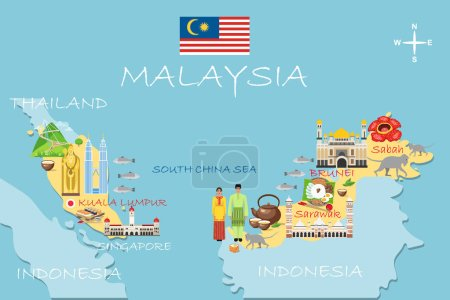 landmark, malaysia, vector, travel, building, flag, city, icon, asia, symbol, tower, country, sign, background, graphic, illustration, national, journey, architecture, tourism, asian, culture, mosque, trip, poster, template, infographic, capital, dre